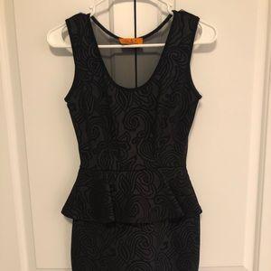 EUC - Black Cocktail Length Dress